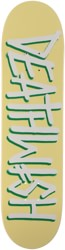 Deathwish Deathspray 8.0 Skateboard Deck - pale yellow