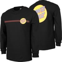 Santa Cruz Other Dot L/S T-Shirt - black/mustard