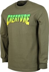 Creature Logo L/S T-Shirt - military green