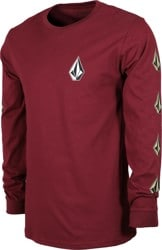 Volcom Deadly Stones L/S T-Shirt - maroon
