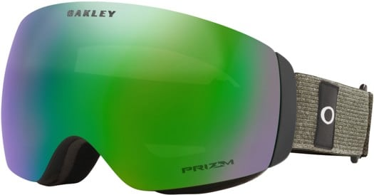 Oakley Flight Deck XM Goggles - heathered dark brush grey/prizm jade iridium lens - view large