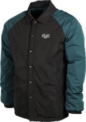 Howl Premium Coach Jacket - black/green