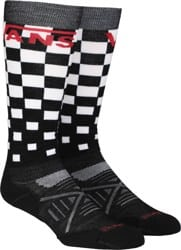 Vans PhD Light Elite Snowboard Socks - black/white