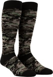 Volcom Synth Medium Weight Snowboard Socks - army camo