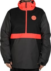 Airblaster Trenchover Jacket - black hot coral