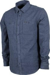 RVCA Harvest Flannel Shirt - moody blue