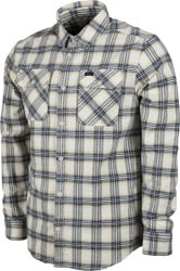 RVCA That'll Work Flannel - antique white/black