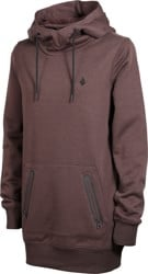 Volcom Polartec Ridin Hoodie - black red