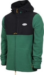 Volcom Polartec Fleece Zip Hoodie - forest