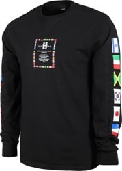 HUF Flag Atelier L/S T-Shirt - black