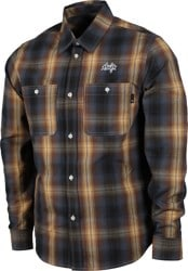 HUF Sanford Flannel Shirt - rich brown