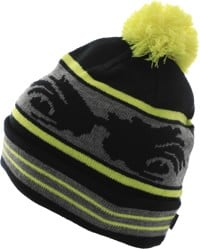 Madness Crazy Eyes Beanie - safety yellow/black