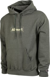 Almost Embroidered Box Champion Hoodie - dark green heather