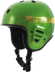 ProTec Full Cut Certified Snowboard Helmet - candy green flake