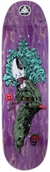 Welcome Tonight I'm Yours 9.0 Baculus 2 Shape Skateboard Deck - purple stain