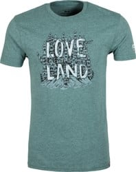 Protect Our Winters Love the Land by Jeremy Collins T-Shirt - green