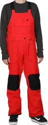 Volcom Roan Bib Overall Pants - red