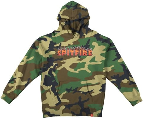 Spitfire Kids Flash Fire Hoodie - forrest camo - view large