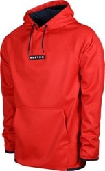 Burton Crown Weatherproof Fleece Hoodie - flame scarlet heather