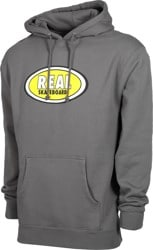 Real Oval Hoodie - charcoal/yellow