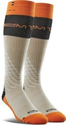 Thirtytwo Signature Merino Wool Snowboard Socks - khaki (scott stevens)
