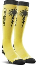Thirtytwo Spring Break Merino Wool Snowboard Socks - light yellow
