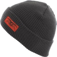 Anti-Hero Stock Eagle Label Cuff Beanie - dark grey