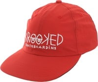 Krooked Krooked Eyes Strapback Hat - dark red