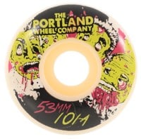 Portland Wheel Company Thrillers Skateboard Wheels - white (101a)