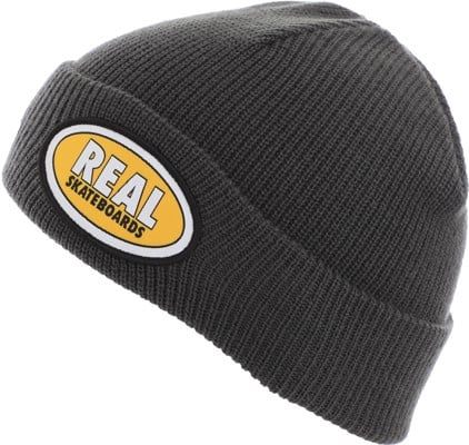 Real Oval Beanie - dark grey/yellow - view large