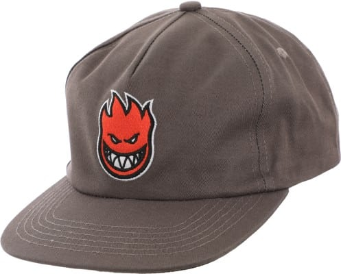 Spitfire Bighead Fill Snapback Hat - grey/red - view large
