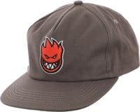 Spitfire Bighead Fill Snapback Hat - grey/red