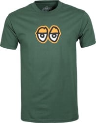 Krooked Eyes LG T-Shirt - forrest green/orange