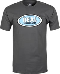 Real Oval T-Shirt - charcoal/blue