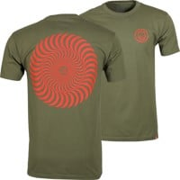 Spitfire Classic Swirl T-Shirt - military green/red