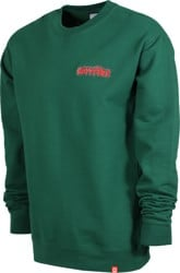 Spitfire Flash Fire Crew Sweatshirt - dark green/red