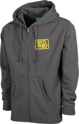 Anti-Hero Reserve Zip Hoodie - charcoal/yellow