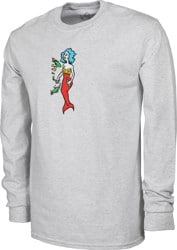 Krooked Mermaid L/S T-Shirt - ash heather