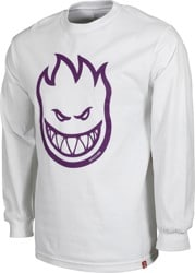 Spitfire Bighead L/S T-Shirt - white/purple