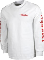 Thunder Script Sleeve L/S T-Shirt - white