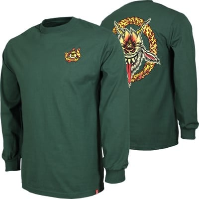 Spitfire Touch Of Satan L/S T-Shirt - forrest green - view large