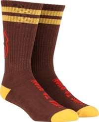 Spitfire Heads Up Sock - dark red/yellow/red