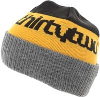 Thirtytwo Double Beanie - black/gold