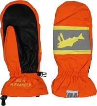 Salmon Arms Classic Mitts - hi-vis orange