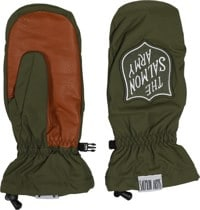 Salmon Arms Classic Mitts - salmon army green