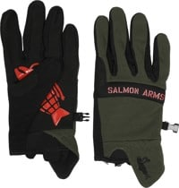 Salmon Arms Spring Gloves - olive/black/red