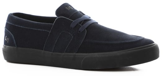 State Vista Skate Shoes - (christian maalouf) navy/black waxed suede - view large