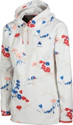 Burton Women's Crown Weatherproof Pullover Hoodie - stout white landscape floral