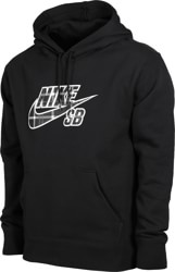Nike SB Plaid HBR Hoodie - black/white