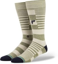 Stance Power Flower Butter Blend Sock - army green